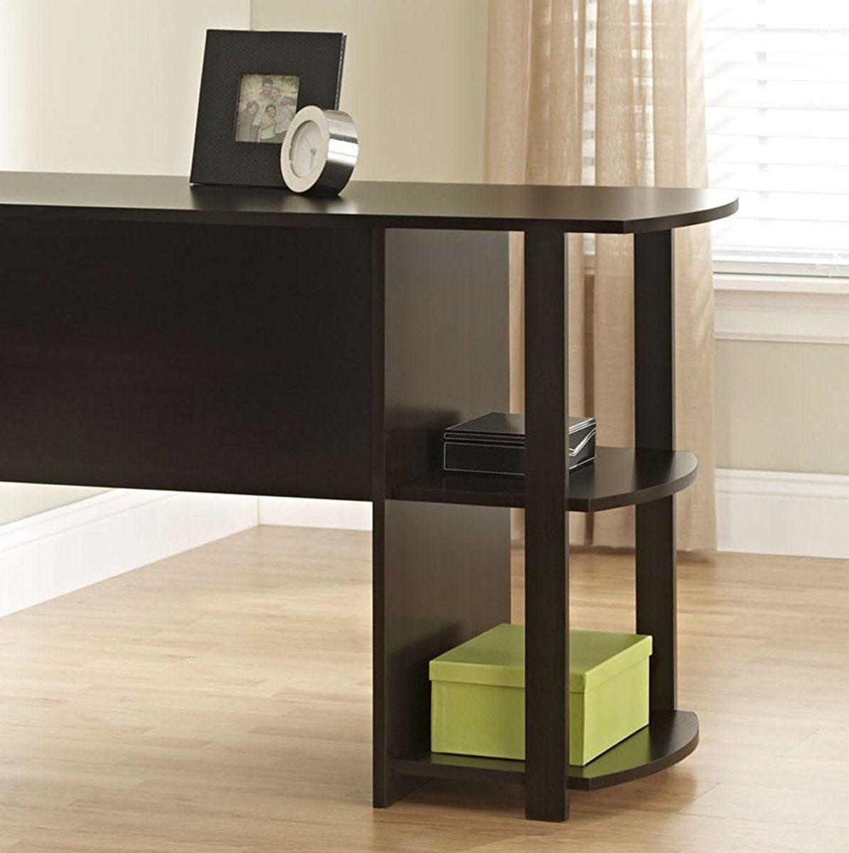 Ameriwood Home Dakota L-Shaped Desk with Bookshelves ...