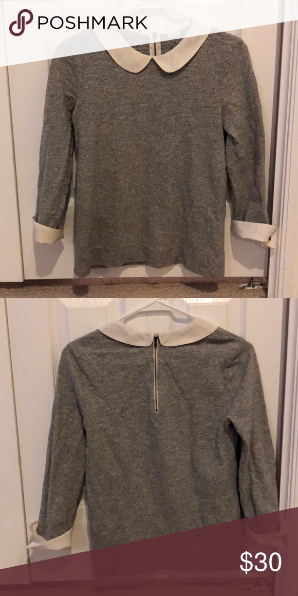 Peter Pan Jcrew sweater Cute detailed Peter Pan collared sweater J. Crew  Sweaters 0f54a3a4a