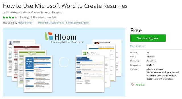Groupon Resume Coupon Udemy  How To Use Microsoft Word To Create Resumes Free