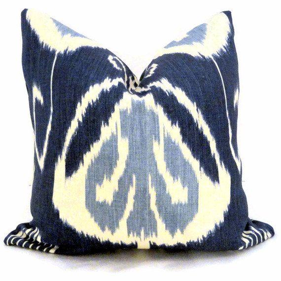 Navy Ikat Pillows