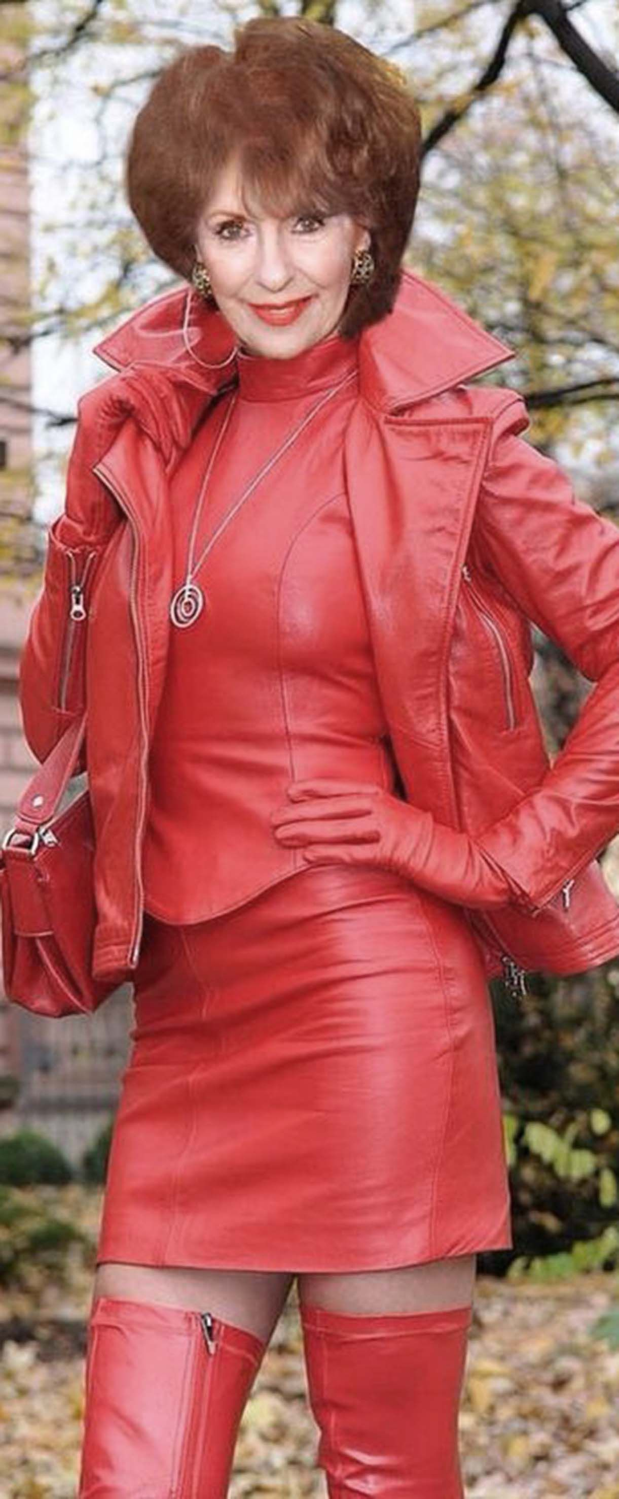 Red Leather Outfitcs  Wonderful Womens  Pinterest -2789