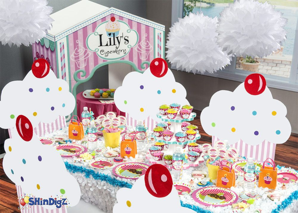 A cupcake party is just as adorable as the cupcakes that inspired it cupcake party supplies and cupcake birthday supplies will make any party sweet and