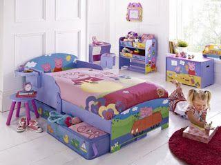 Habitación infantil tema Peppa pig
