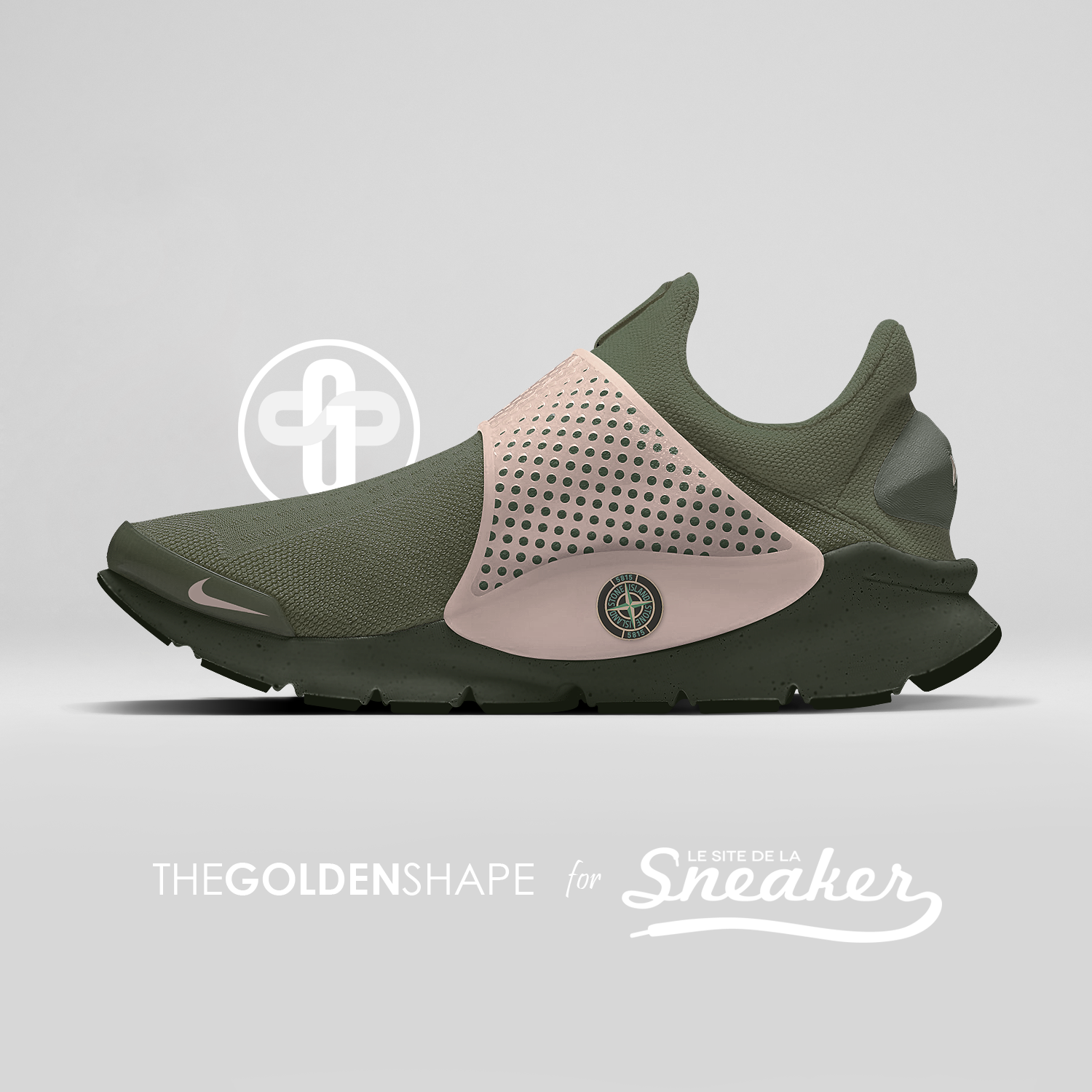 wholesale dealer 2c976 20436 Stone Island x Nike Sock Dart Sequoia