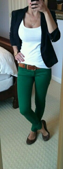 navy blazer Green pants.....just bought pants this color