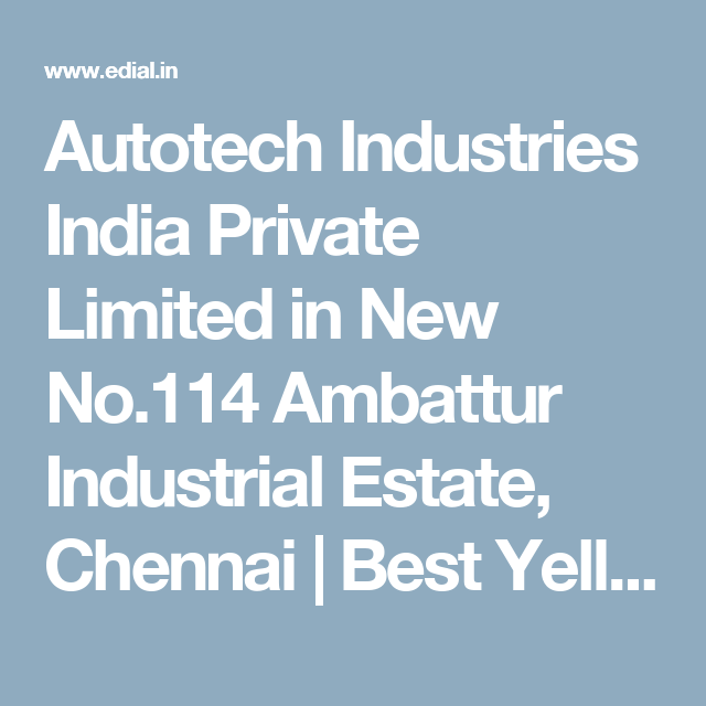 Auto Tech Company In Ambattur Itwgbx