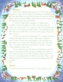 Personalized Letters From Santa Claus   Christmas