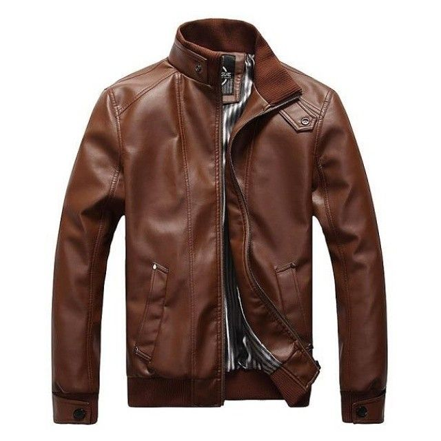 Zip up in style with this Luxe Contemporary UrbanStox Leather Jacket $75 shipped available in Brown or Black US sizes XS S M L XL XXL 3XL at urbanstox.com :) by urbanstox