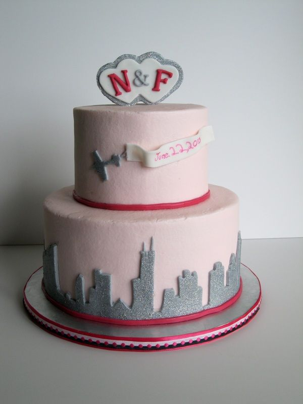 skyline wedding cake skyline wedding shower cake chicago cake and other 20188
