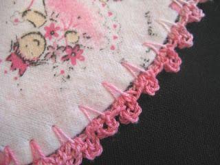 Sewchic Crocheted Edge Blanket Tutorial The Cute Picot