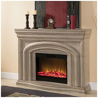Grand Antique White Fireplace - This ones bigger, and more ...