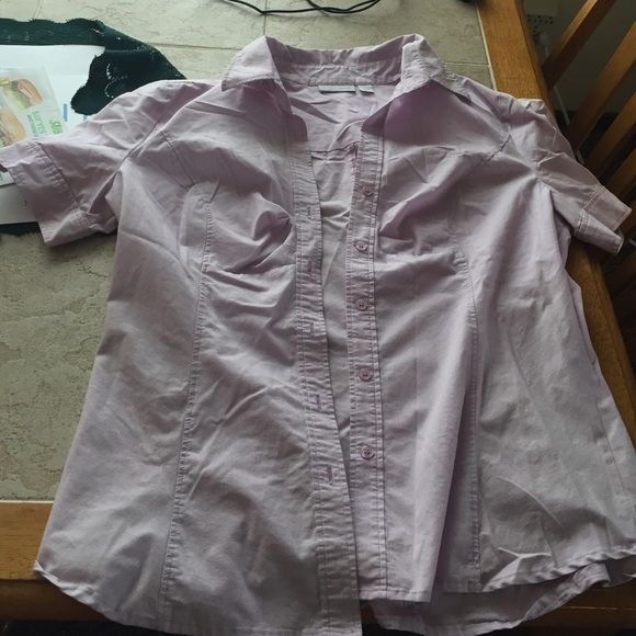 Light purple button down shirt Short sleeve, has some stretch to it New York & Company Tops Button Down Shirts