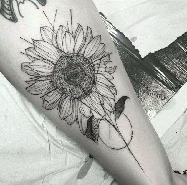 Girasol Blanco Y Negro Tatuajes Pinterest