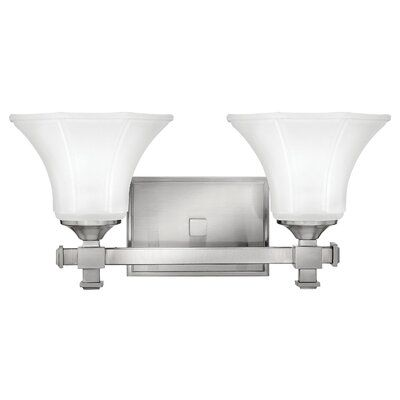 Photo of Hinkley Lighting Abbie 2-Light Vanity Light Finish: Brushed Nickel