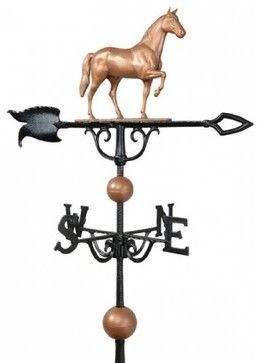 """30"""" Full-Bodied Horse Weathervane - Copper"""