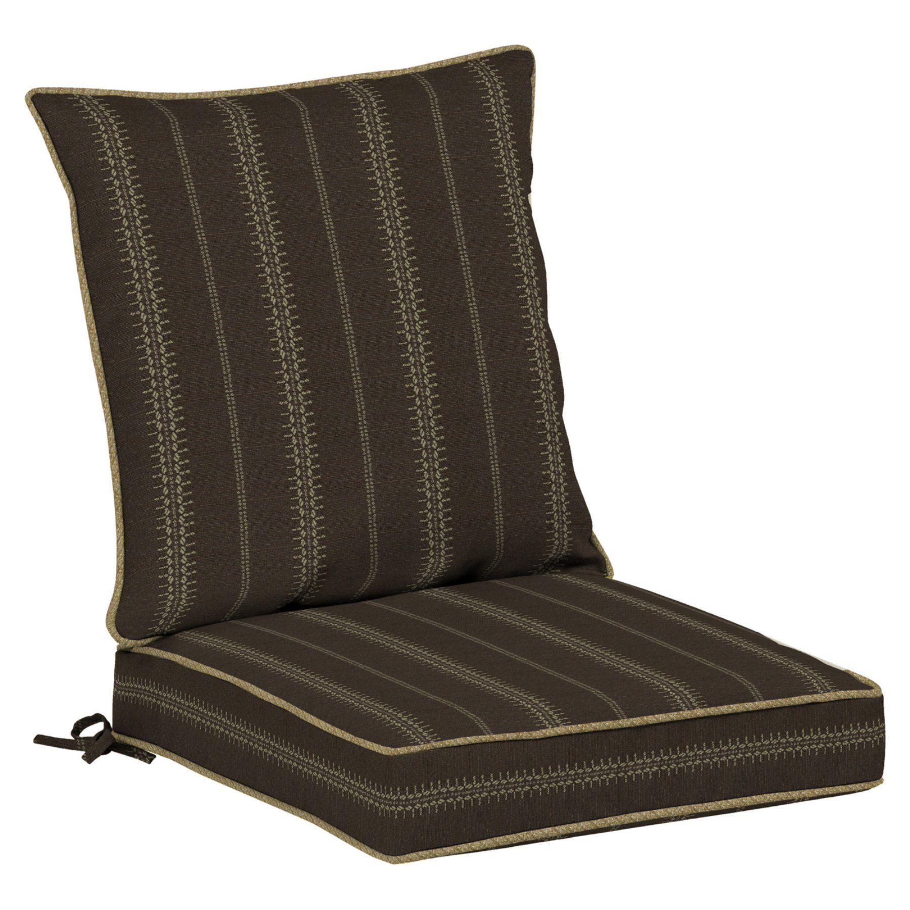 Bombay Outdoors Trevor Stripe Espresso Dining Seat Cushion Set