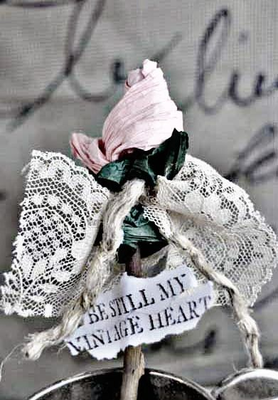 Counting Your Blessings: Paper Rosebud Tutorial