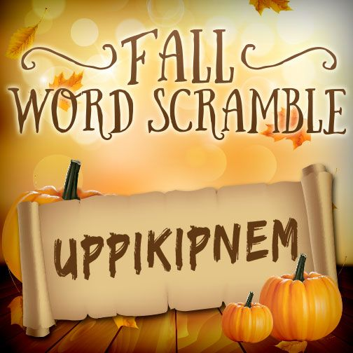 Show your kids and see if they can figure out this Thanksgiving themed word scramble!