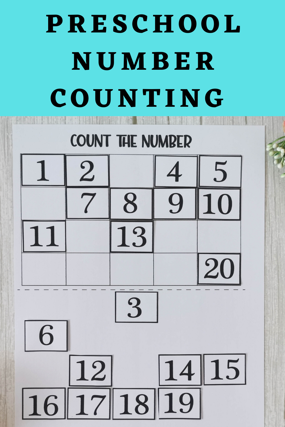Preschool Number Counting Printable Activity Count To 20 Etsy Numbers Preschool Math Activities Preschool Printable Activities For Kids [ 1500 x 1000 Pixel ]