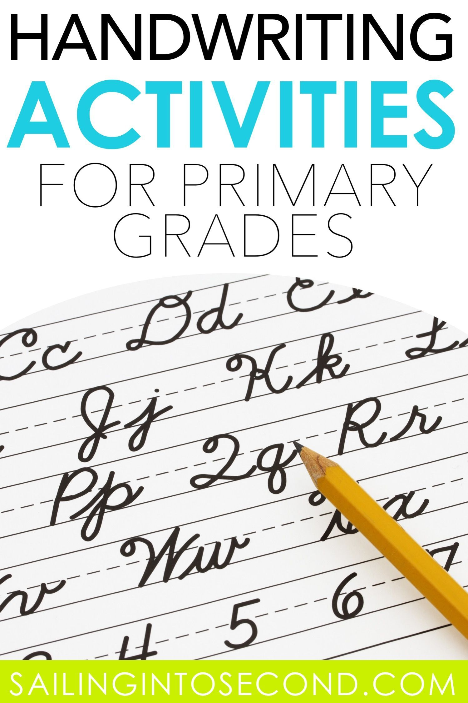These Fun Handwriting Activities Are Great For Kids In Elementary Grades Click Through To Lea Handwriting Activities Elementary Writing Math Center Activities Fun handwriting activities for grade