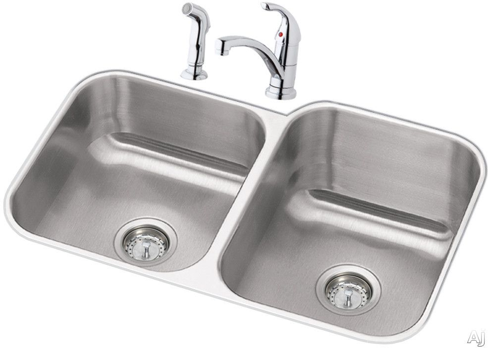 Elkay Dayton Collection Dxuh312010rdf Stainless Steel Double Bowl Kitchen Sink Double Bowl Kitchen Sink Stainless Steel Kitchen Sink Undermount