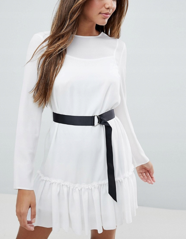 28t002 Xda Biala Mini Sukienka Damska Xxs 8876088880 Oficjalne Archiwum Allegro Mini Dress Dresses Fashion