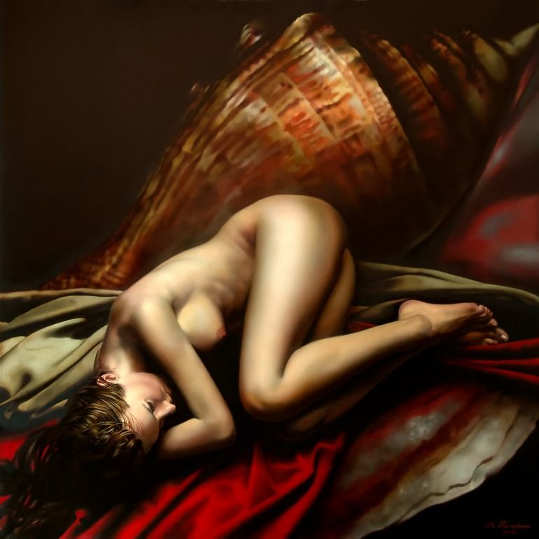 "Alexey Golovin; Oil, 2009, Painting ""The Birth of Venus"""