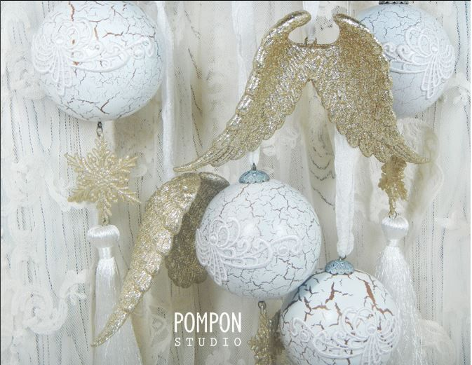 Купить Набор елочных украшений ЗОЛОТОЙ АНГЕЛ - золотой, шары, шары на елку, шары новогодние