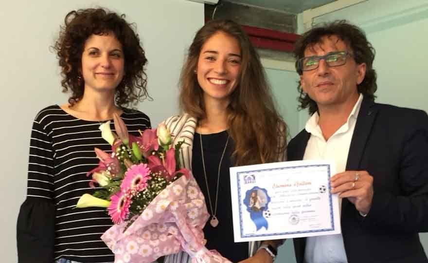 Eleonora Goldoni in visita all'Istituto Comprensivo Manara