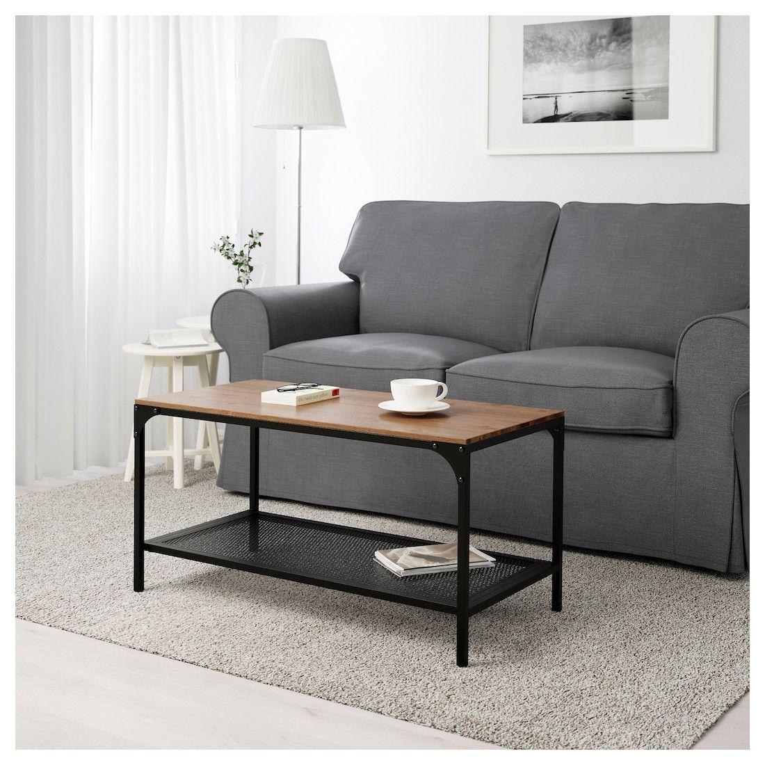 IKEA FJALLBO Black Coffee table Small living rooms