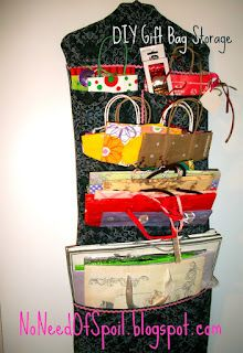 Diy Gift Bag Organizer Tutorial Neat And Tidy Gift Bag Storage
