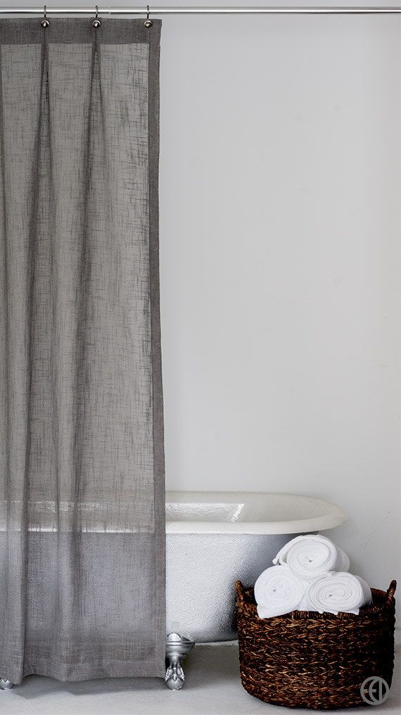 Grey Fabric Shower Curtain Standard And Extra Long Sizes Extra