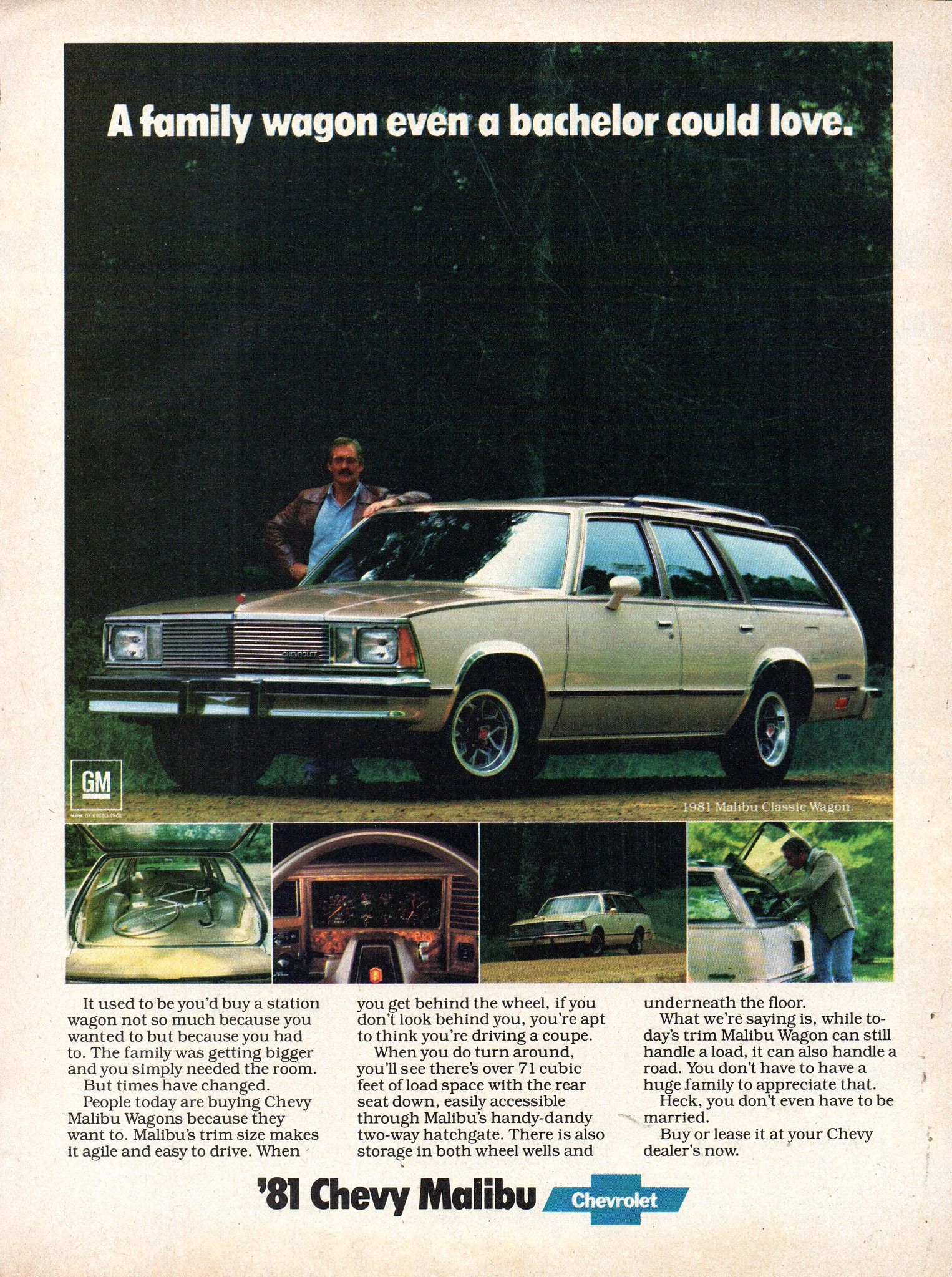 1981 Chevrolet Chevy Malibu Wagon Usa Original Magazine