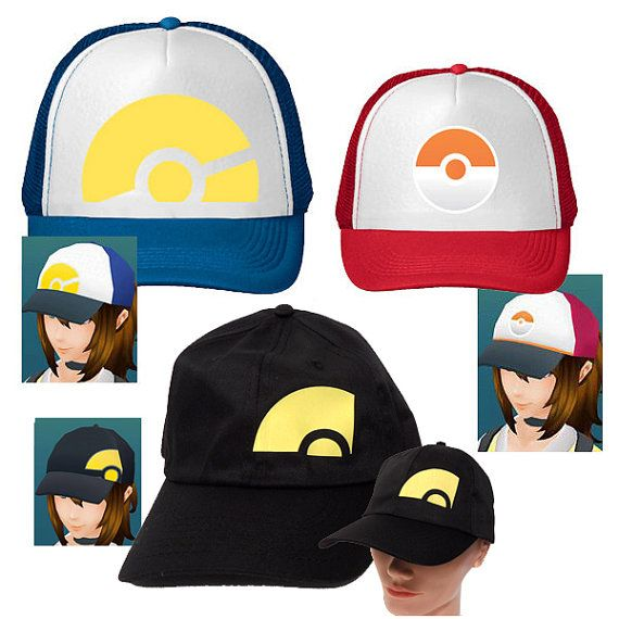 61ac677bc7655 Pokemon Go Trainer Hats Cosplay Hat Girl Trainer by PopComet