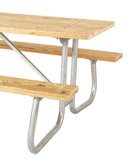 Frame Kit For 12 Ft Picnic Table Welded 1 5 8 Galvanized Steel Portable Pieds De Table Table