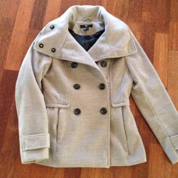 Used once peacoat H&M ❤️ Excellent size 4 H&M Jackets & Coats Pea Coats