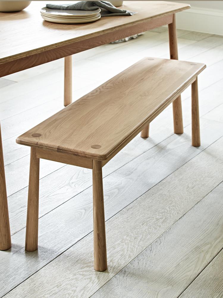 bergen oak bench - Oak Bench For Dining Table