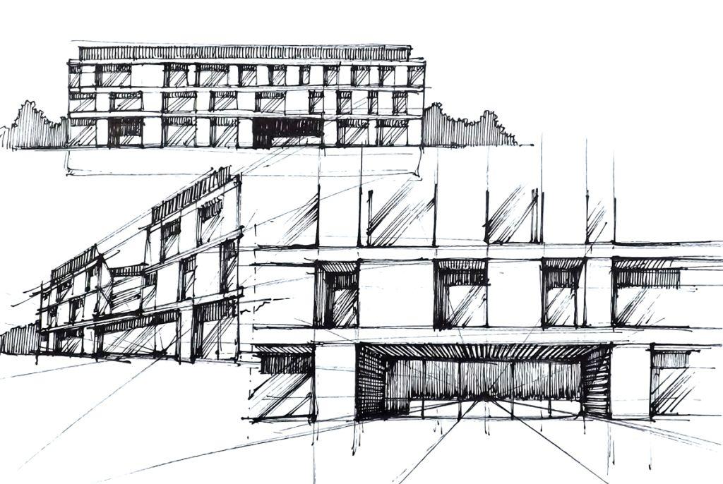 Architecture Design Concept Sketches