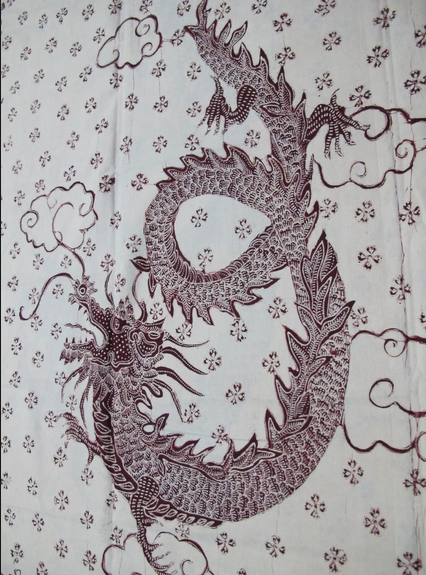 Liong.  Motivo de origen chino adoptado por el batik javanés.  (426×575)