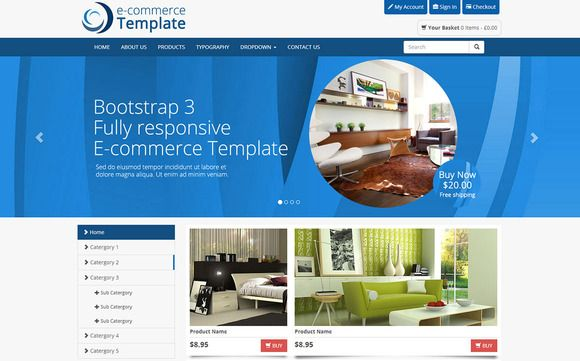 Bootstrap Ecommerce Template With Images Ecommerce Template Templates Ecommerce