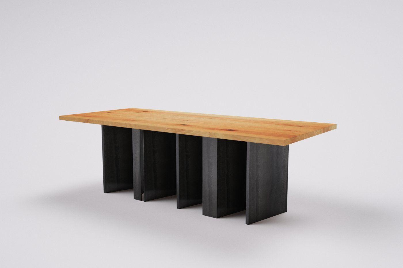 Holztisch Buche Massiv Mit Metallgestell Wohnsektion Holztisch Buche Holztisch Tisch