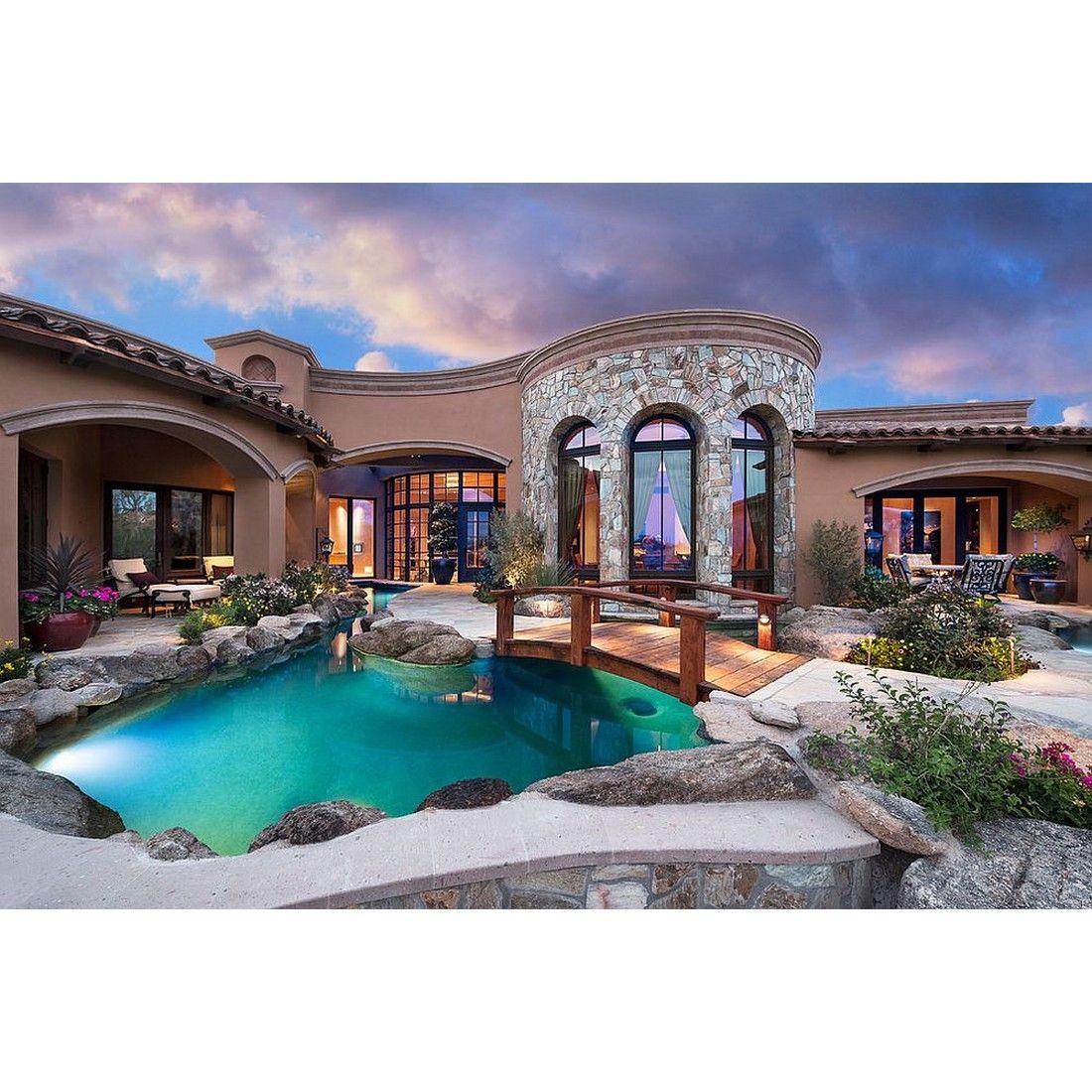 Perfect lighting create a dramatic pool. #rumahkupool | Exterior ...