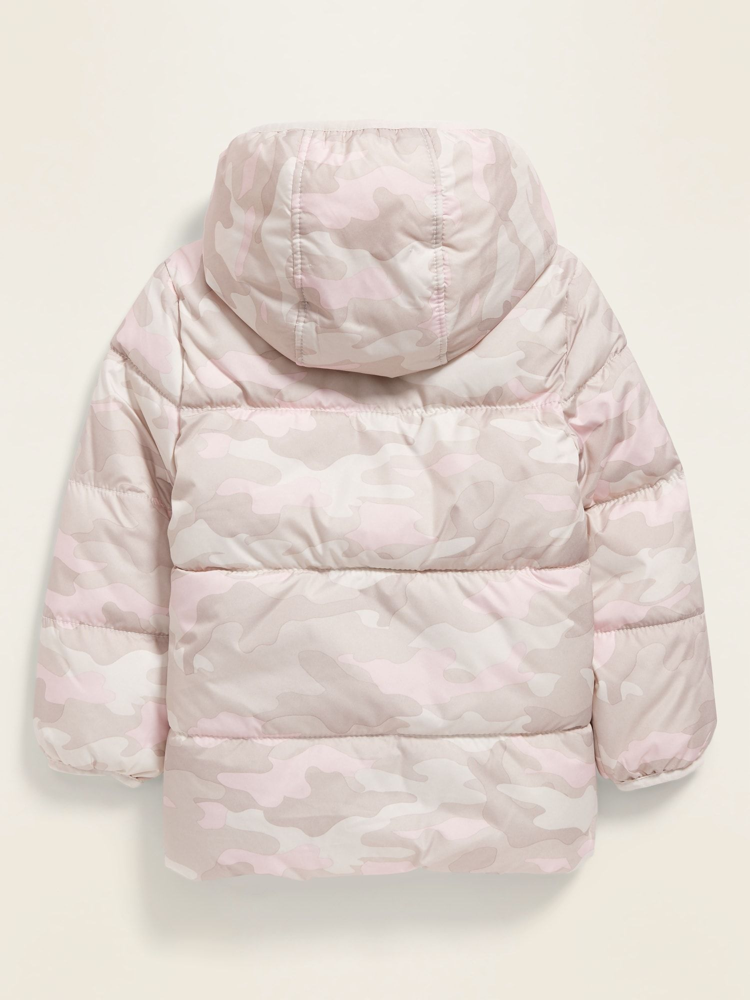 Old Navy Unisex Camo Print Frost Free Puffer Jacket For Toddler Pink Camo Size 18 24 M Puffer Camo Print Pink Camo [ 2000 x 1500 Pixel ]