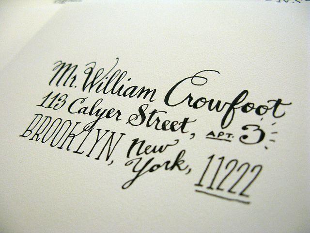 HandDrawn Addresses  Letter Addressing Envelopes And Calligraphy