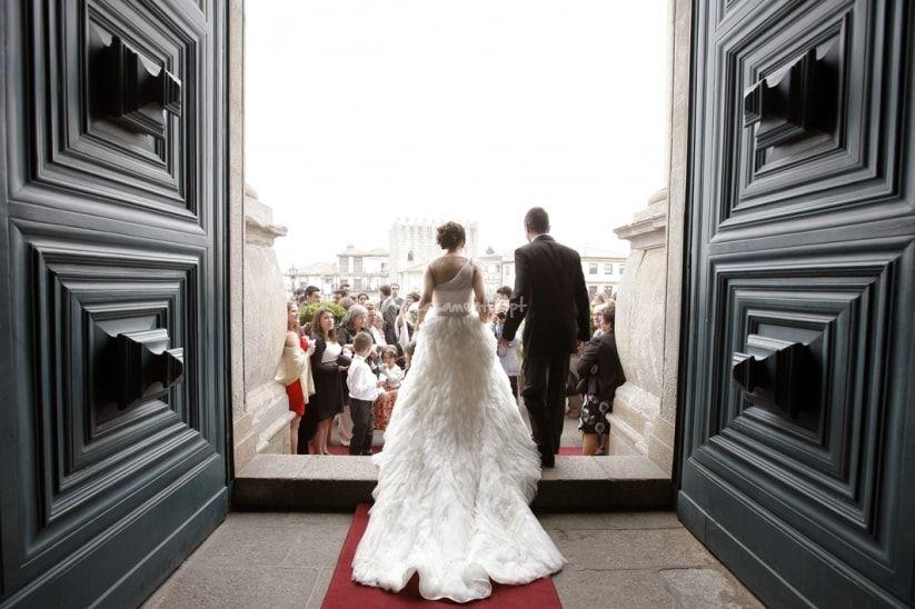 Protocolo de entrada e saída da igreja.