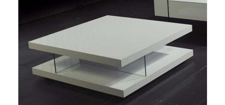 Modern Round Shaped Coffee Table White Lacquer Finish Coffee
