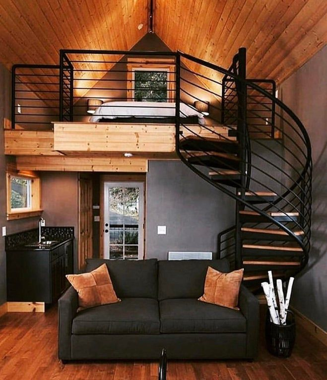 Best I Would Love A Tiny Home With A Spiral Stair Case This 400 x 300