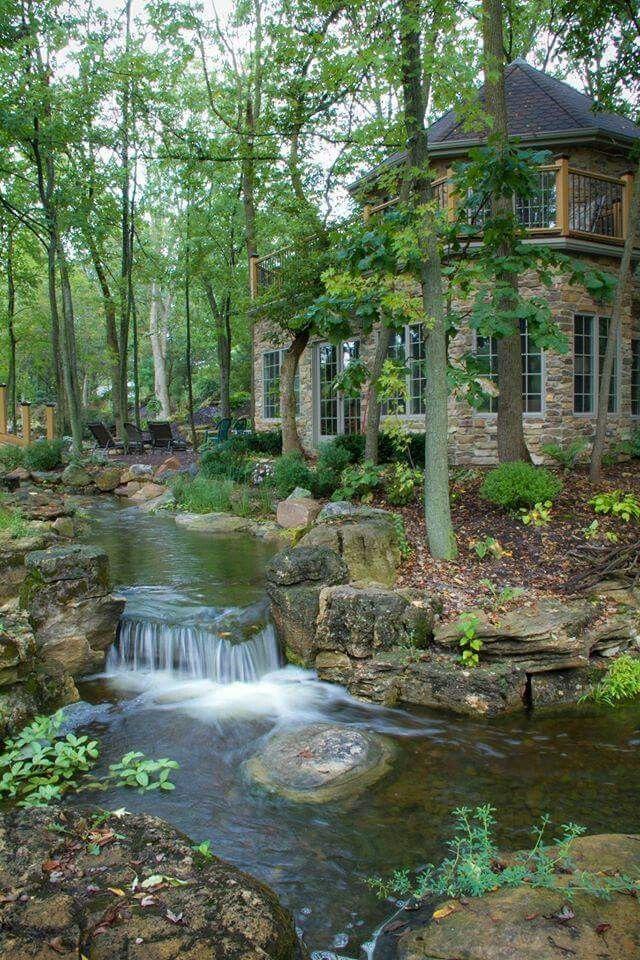Love this place. | Waterfalls backyard, Ponds backyard ...