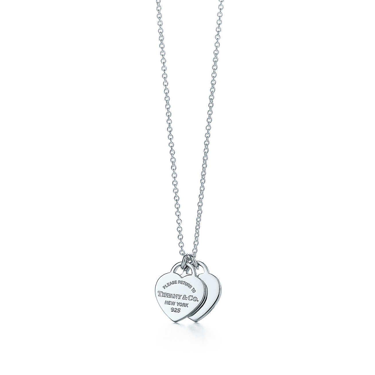 Sterling Silver Medium Engraveable Heart Tag Pendant