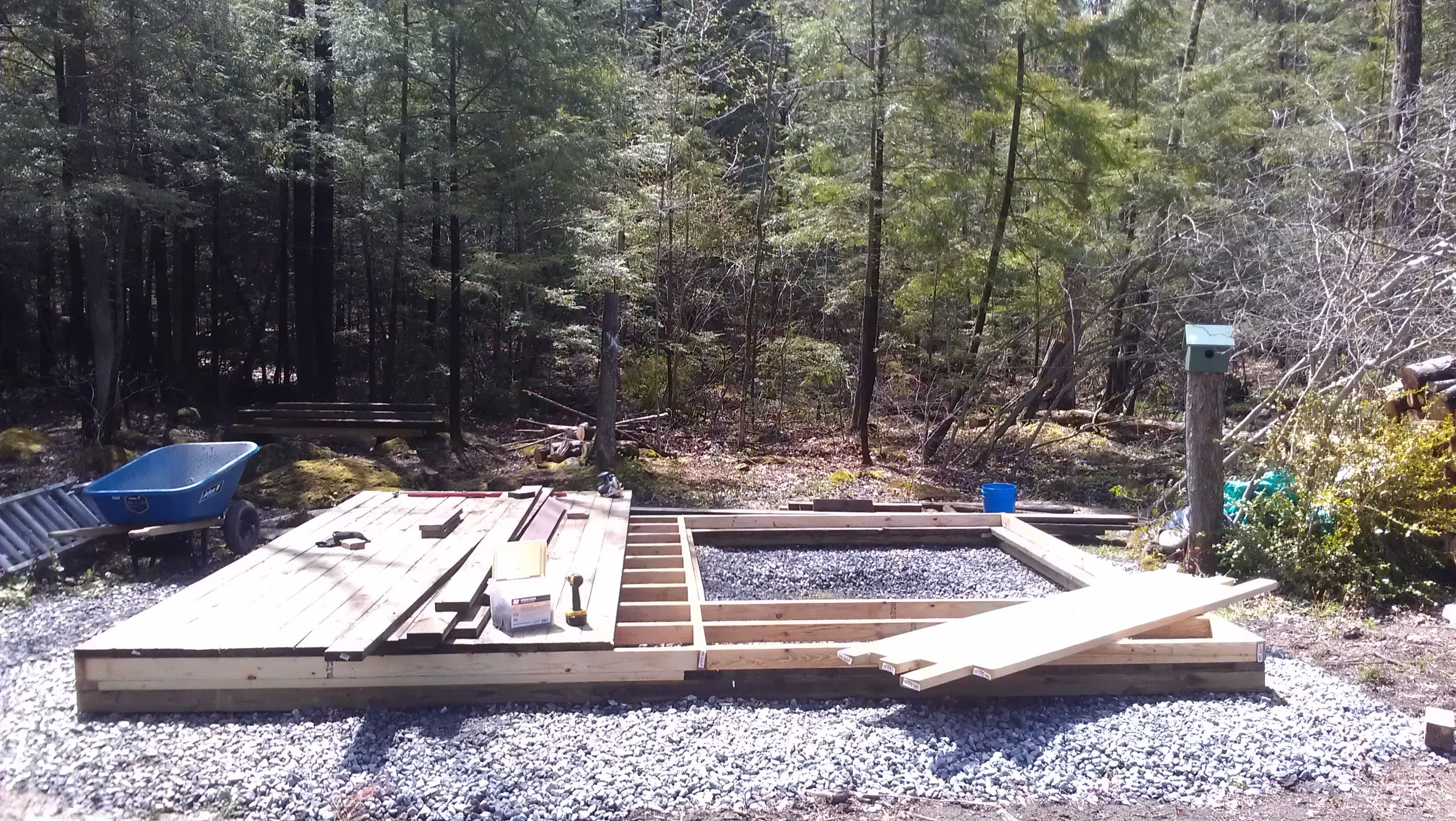 05/10/14 - Building a 16x12 tool/storage shed framing ...